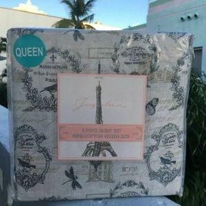 FLASH SALE Jacqueleen PROVINCE TAN Queen Sheet Set